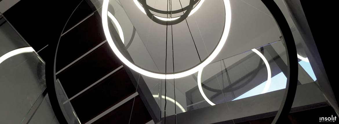 lampara circular lamp pendant suspension led desig