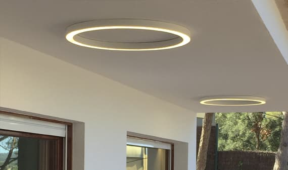 tr custom circular flushmount design lamp outdoor lighting lampara de diseño barcelona insolit