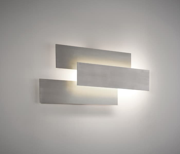 plaque combinations brushed nickel niquel satinado modular wall lamp indirect light ambient light la