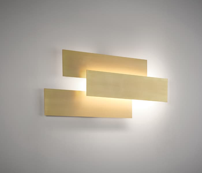 plaque combinations brushed brass laton satinado bronce modular wall lamp indirect light ambient lig