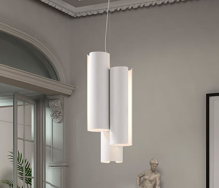 Inside pendant tube lamp pendant design lampara diseño suspension tubo tensor colgante insolit xucl